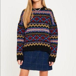 NWT UO Color Pop Rainbow Fair Isle Sweater